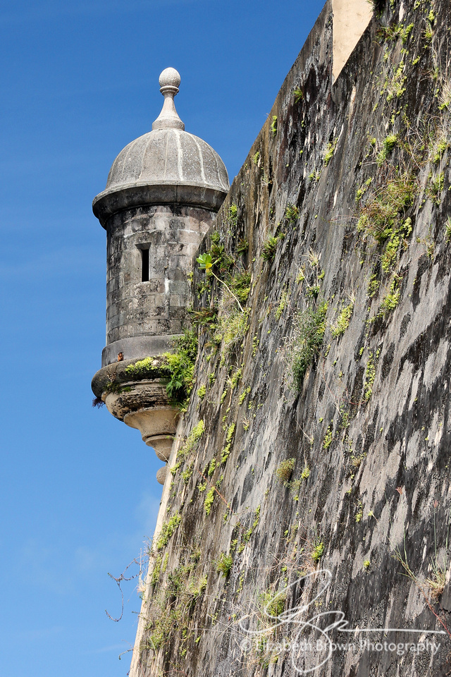 """Garita' along the city wall of Old San Juan, Puerto Rico."