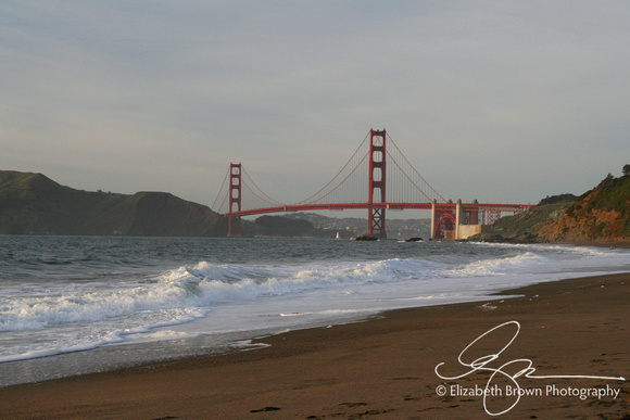 Golden Gate Bridge from Baker Beach, San Francisco